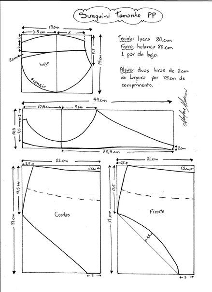 Como hacer trajes de baño pin up de dos piezas