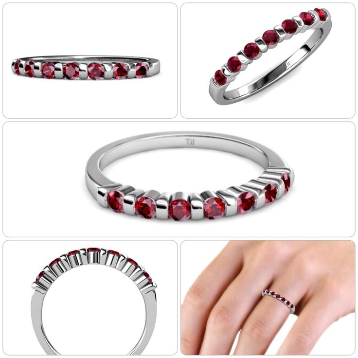"""A perfect #Wedding #Band for the most awaited day with 7 beautiful bar set #Ruby adding glamorous touch to your personality.  - SPRING SALE - 75% OFF Retail  - Take Additional 10% off Coupon Code : """"TriJewels10""""  #love #gift #finejewelry #trijewels"""