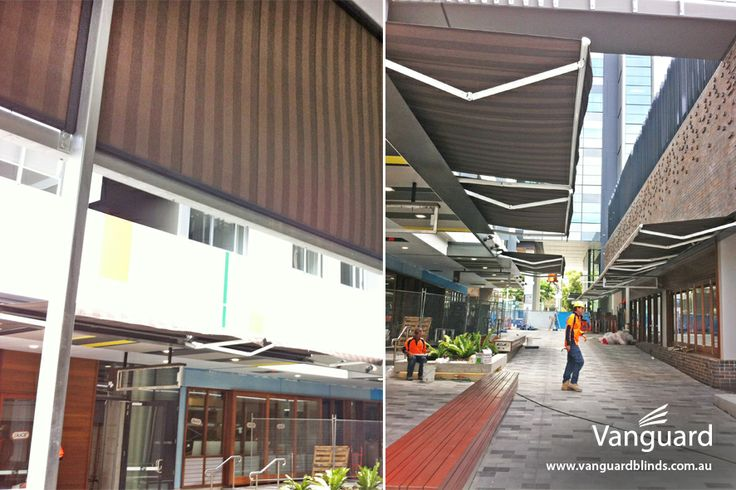 M&A Development - Install of 8 folding arm awnings & 5 straight drop awnings (Located directly across the street from Vanguard showroom)
