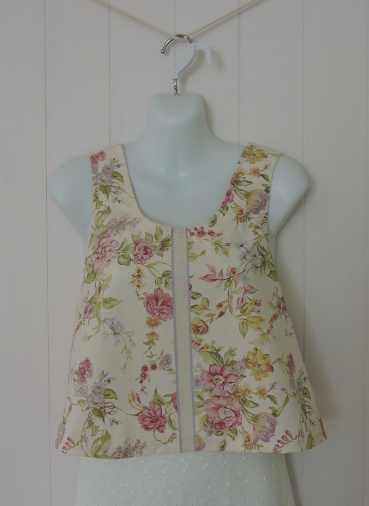 Sweet top, Size 8 - 10, Small, Upcycled, Handmade, Floral, Pastel, Top, Girls, Womens, Flaired by dezignhub on Etsy https://www.etsy.com/au/listing/233821138/sweet-top-size-8-10-small-upcycled