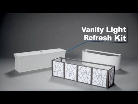 Vanity Light Refresh Kit. Easy upgrade for Hollywood vanity light fixtures. DIY Home Dec ...