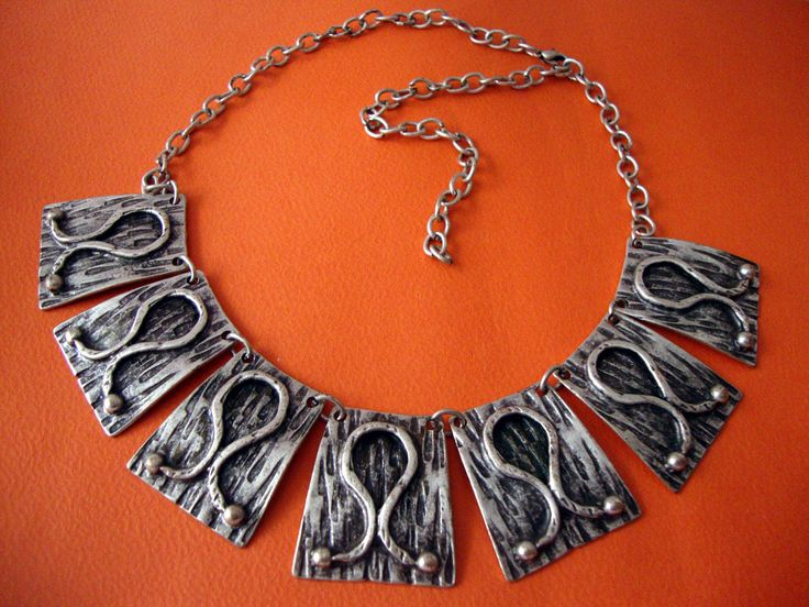 Modern Oxidized Infinity Design Custom Jewelry Pewter Necklace Adjustable Length 40 - 50 cm by SilveradoJewellery on Etsy