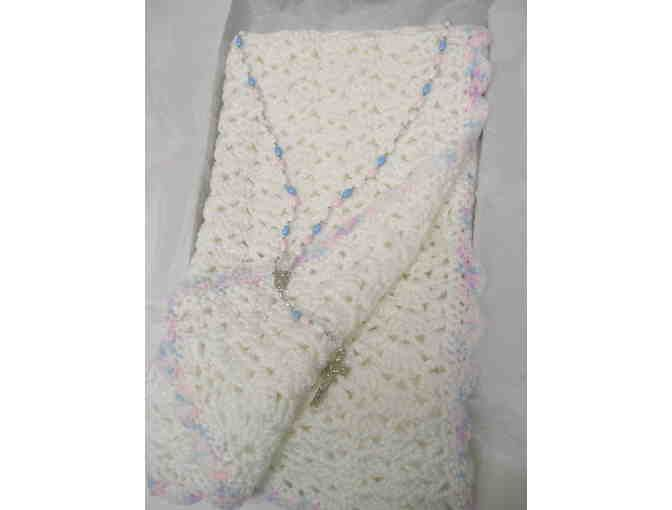 Baby Crocheted Blanket and Rosary - Online Fundraising Auction - BiddingForGood