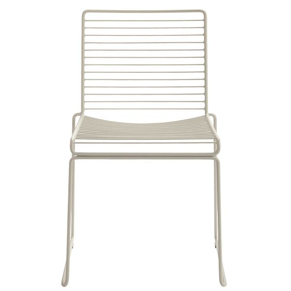Beige Hee dining chair by Hay.