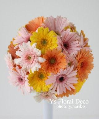 ミックスカラーのガーベラブーケ @ウェスティンホテル東京 ys floral deco
