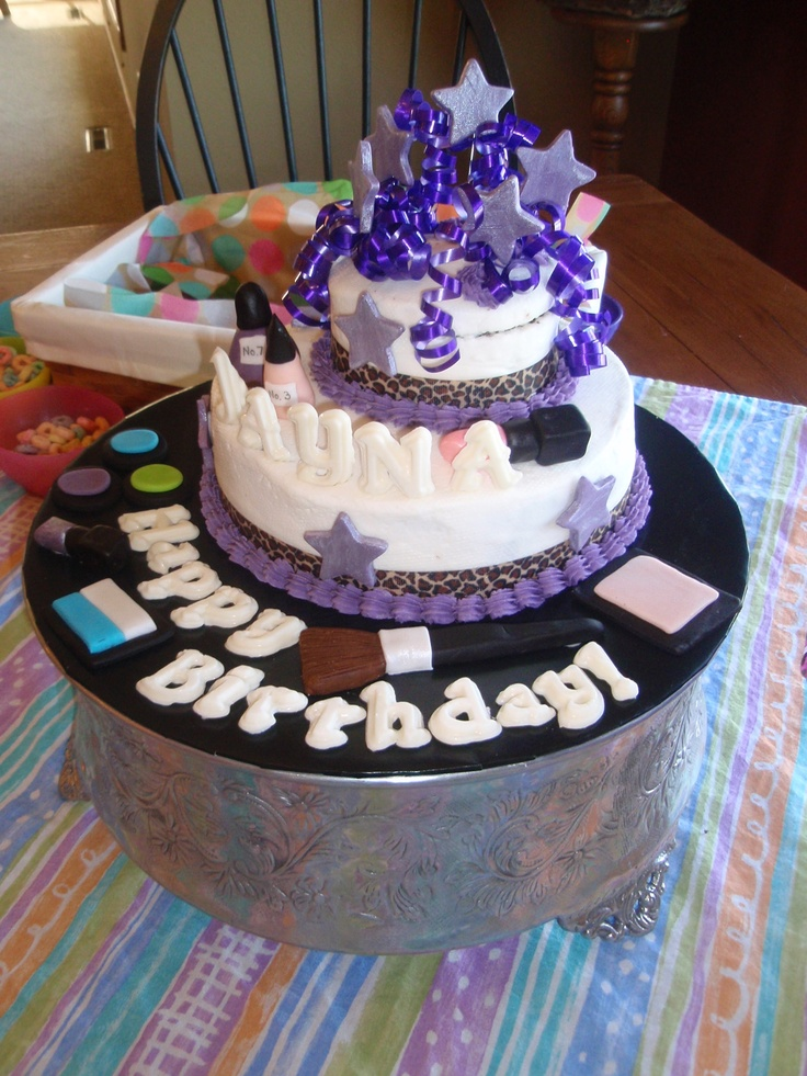 17 best images about birthday ideas on pinterest spa for Salon cake design