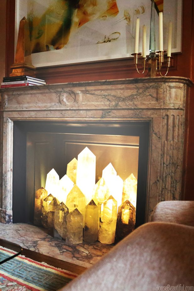 What To Put In Your Fireplace Besides Logs | Selenite