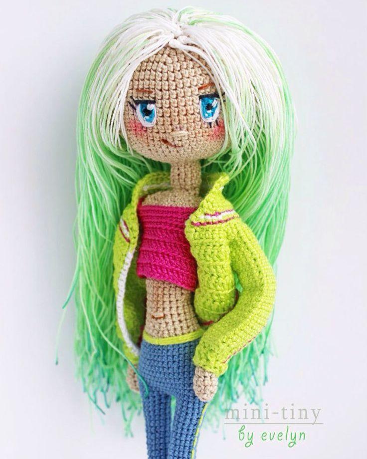ищет домик  Girl free for sale  #кукла #kawaiicute #娃娃 #вязанаякукла…