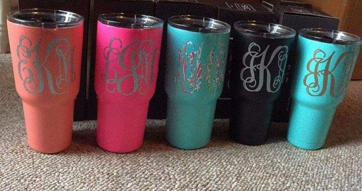 30oz SIC cup with monogram  #SIC