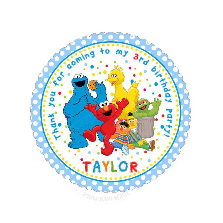 """Custom Elmo Thank you 2.5"""" round Stickers-Sesame street photo quality Glossy Stickers- Personalized Baby Shower, Birthday Thank you Tags by StudioIdea on Etsy"""