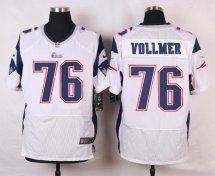 New England Patriots #76 Sebastian Vollmer Elite White Mens NFL