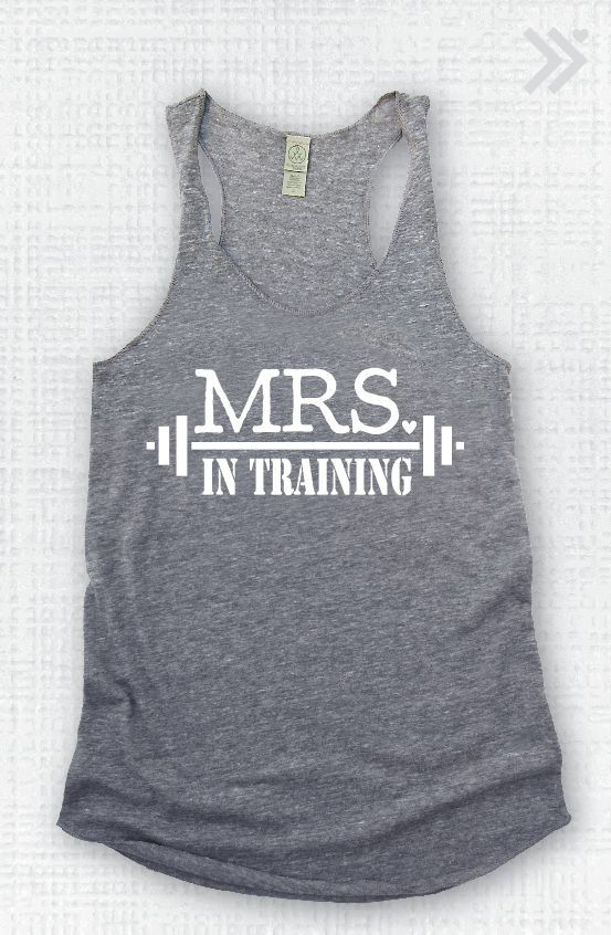 Mrs. In Training EcoTank top by everfitte on Etsy, $26.00 Bridal #Fitness Tips // Aisle Perfect.