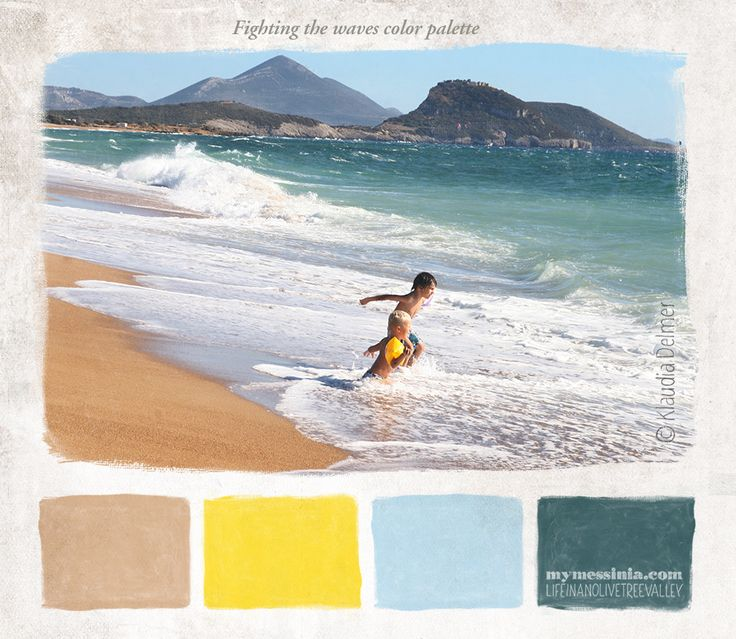 Fighting the waves color palette | My Messinia