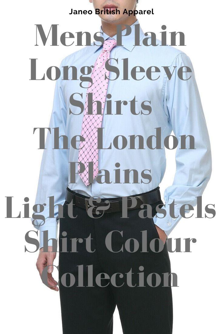 Mens Regular Fit Shirt,Formal /& Office,14 Plain Colors,Janeo British Apparel UK