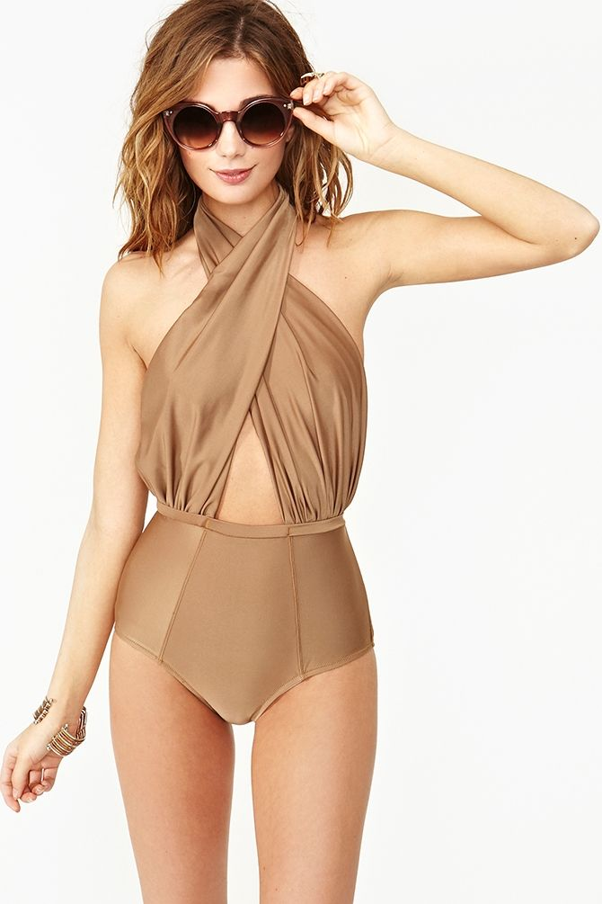 Cabana Halter Swimsuit - How cute would it be in red?