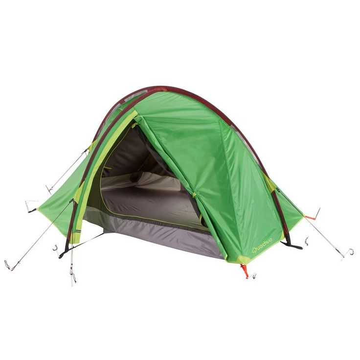 £69.99 - All Tents - Quickhiker II Hiking Tent - 2 Man, Green - Quechua