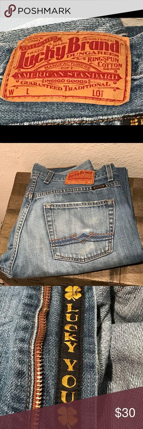 Lucky Brand Men's Bootleg Jeans 34 Reg Inseam Lucky Brand Men's Bootleg Jeans 34 Reg Inseam Lucky Brand Jeans Bootcut