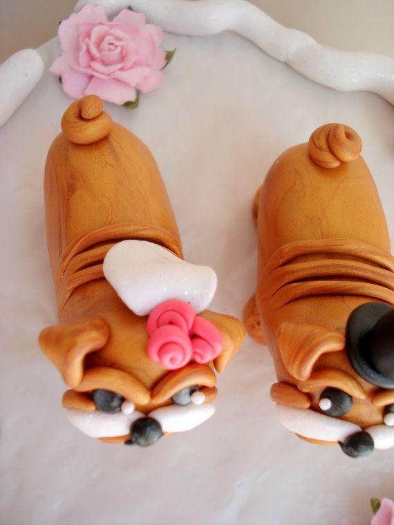 Bulldog torta Toppers novia y novio Bulldog por MagicalGifties