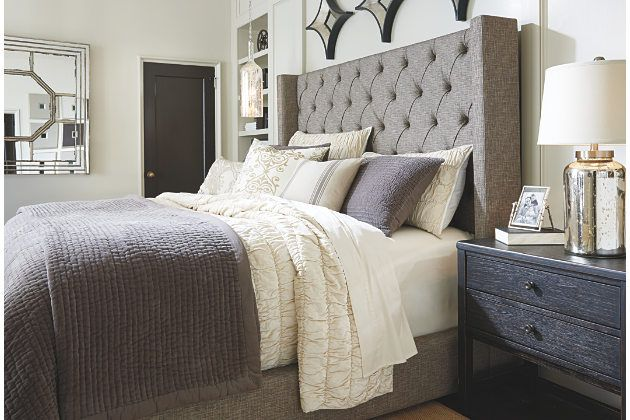 33 Best Grey Upholstered Bed Images On Pinterest Master Bedrooms Bedroom Suites And Bedrooms