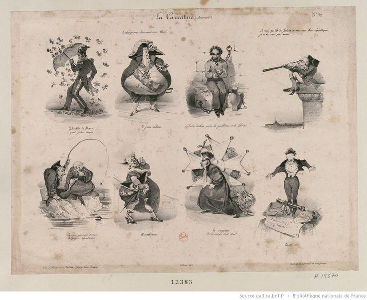 Giboulées de Mars. [Copie inversée du n° De Vinck 13384.] Le juste milieu. [Une poire en grande tenue de général avec de nombreuses décorations et une cocarde tricolore à son bicorne. En exergue :
