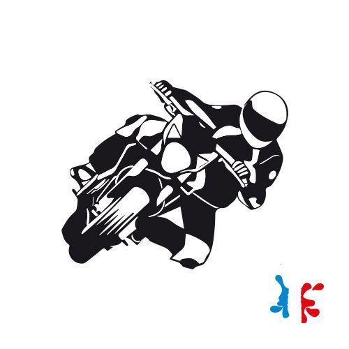 Sticker Moto Penchée Vinyl Taille M - J'M Créer