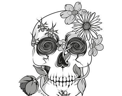 """Check out new work on my @Behance portfolio: """"Skull Vector Illustration"""" http://be.net/gallery/49379969/Skull-Vector-Illustration"""