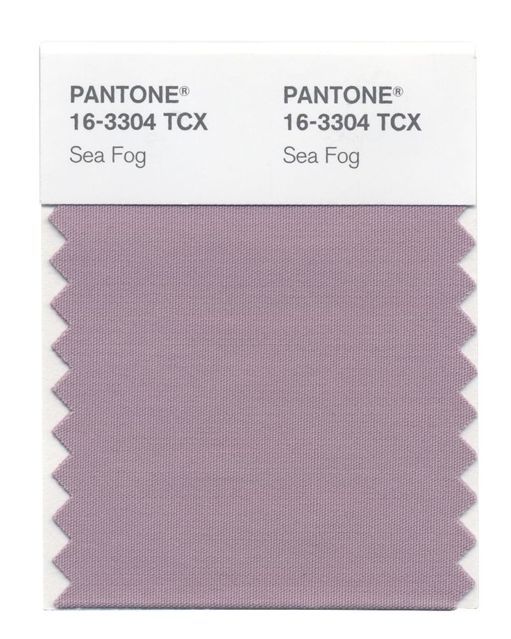 Sea Fog is a more masculine representation of Mauve Mist, for a powerfully poised fall look. #FashionColorReport #Fall2014