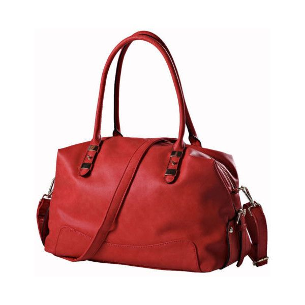 "14.5"" Genuine Leather Handbag Women Lady Handbag Shoulder Bag Leather Messenger found on Polyvore featuring women's fashion, bags and messenger bags"