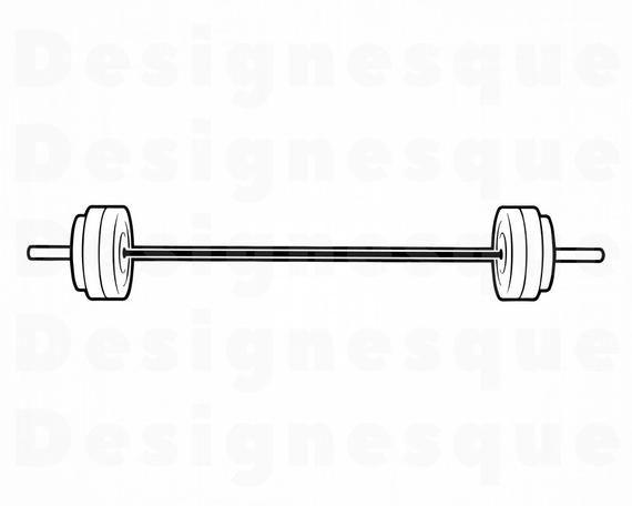 Barbell Outline Svg Barbell Svg Weights Svg Bodybuilding Etsy In 2021 Svg Clip Art Outline