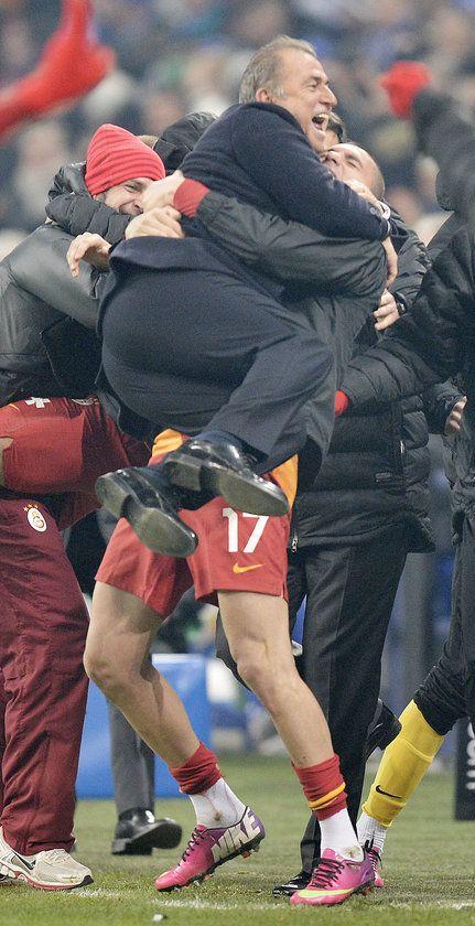 Galatasaray's Victory ! Burak Yilmaz and Fatih Terim.