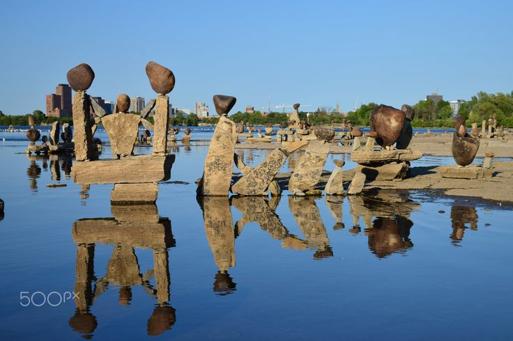 Ottawa Remic Rapids rock sculptures - Remic rapids rock sculptures on the Ottawa…