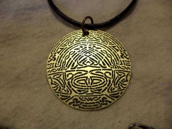 Heimdall open the Bifrost Etched Brass Pendant