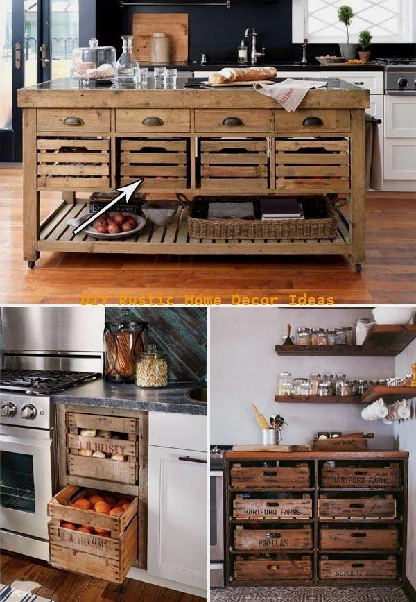 erstaunliche rustikale kücheninsel diy-ideenerstaunliche