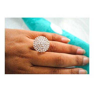 Diamond Blossom Engagement Ring