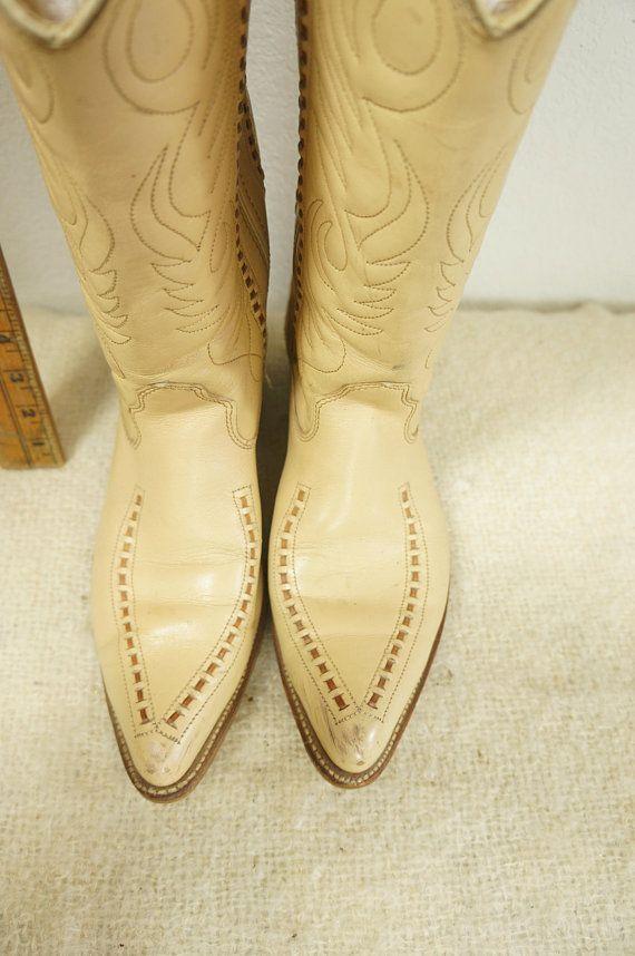 10cfcf192b4fb 50s Custom Cowboy Boots Mens Sz 14-15 EXLLNT COND / Rockabilly Whip ...