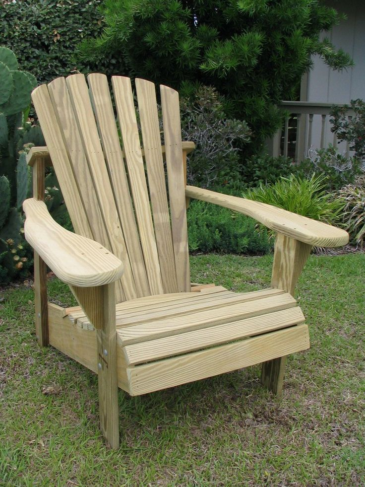Unfinished Adirondack Patio Chair