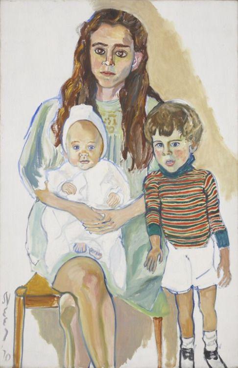 alice-neel: Julie and Children, 1970