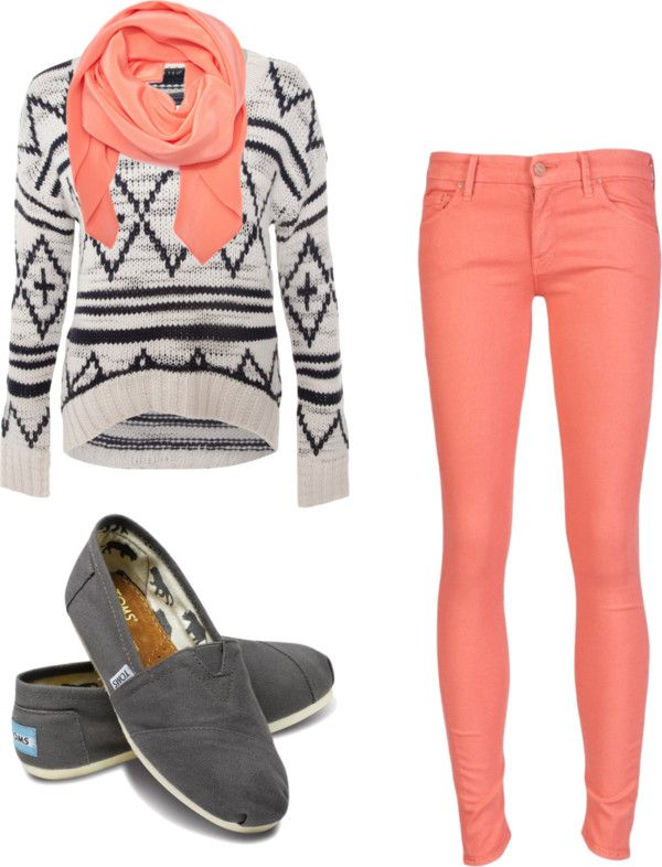 """Matchy Matchy.."" by autumn-wright on Polyvore --- or with jeans or black pants"