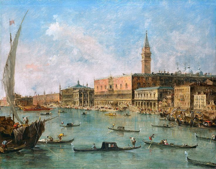 Francesco Guardi - The Doge's Palace and the Molo [c.1770] | Flickr - Photo Sharing!