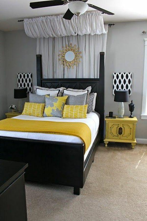 jaune, noire  et blanc, fort couleurs