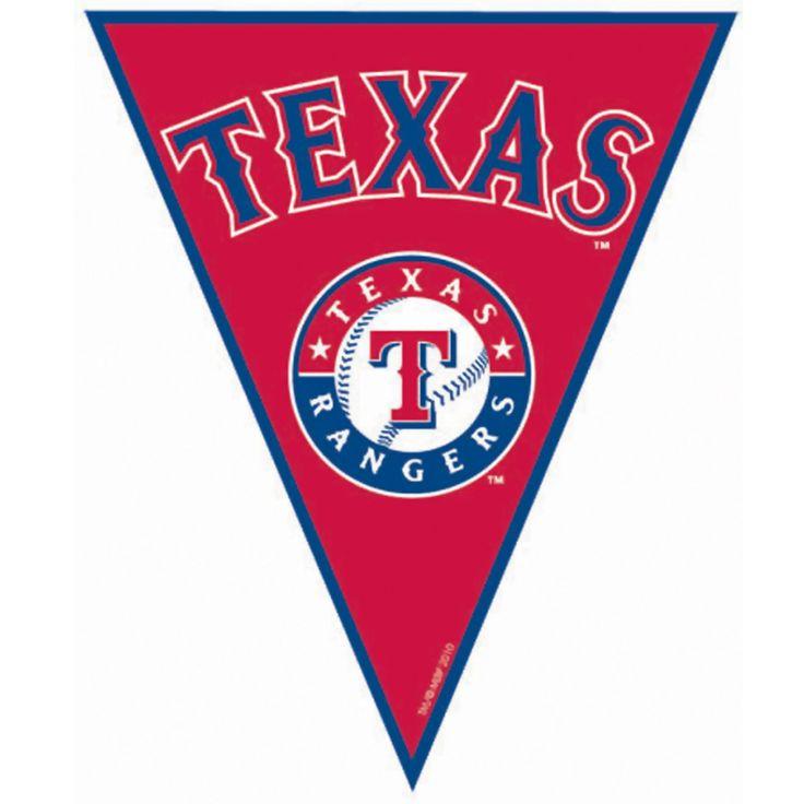 Texas Rangers Baseball Pennant Banner