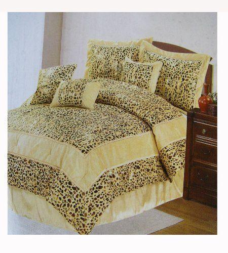Casa Blanca Leopard Bedding Set - 7 pcs Bed in Bag (Queen Size) . $95.00