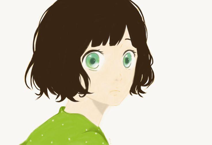 Cute manga girl #digital #art #practice