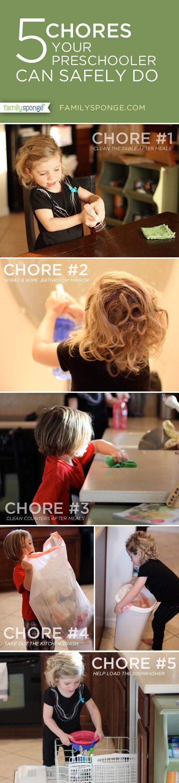 5 chores your preschooler can do safely