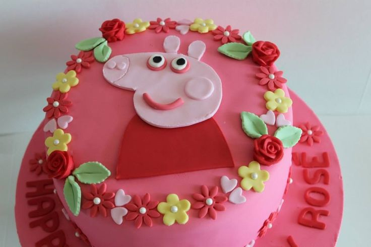 Choc vanilla layer Peppa Pig cake by The Sweet Spot www.facebook.com/thesweetspotaustralia