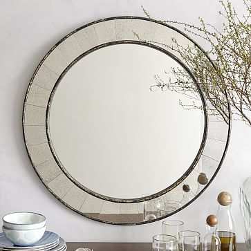 Photo Album Website Antique Tiled Round Mirror Solid wood frame with Antiqued Bronze finish Hand inlaid