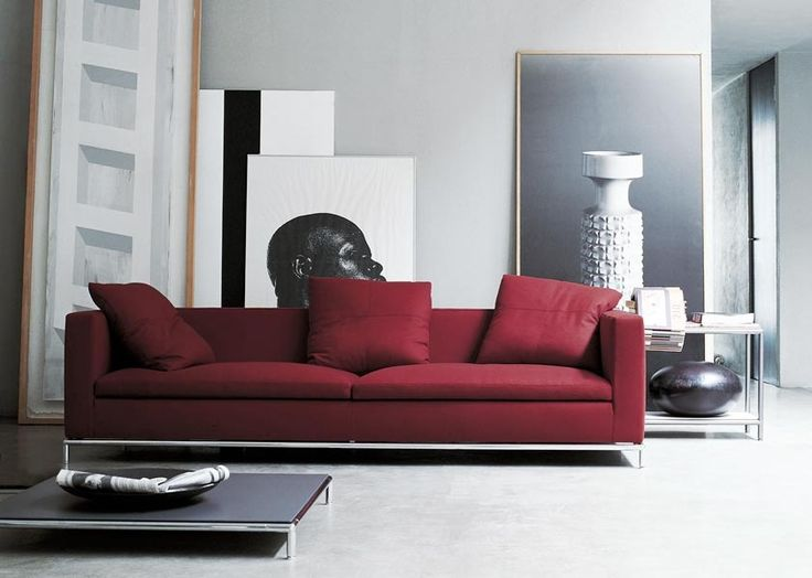 192 best salon images on Pinterest Red couches Red sofa and