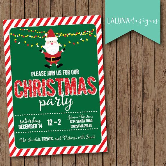 60 best Christmas Invitation Greeting Cards images on Pinterest - free xmas invitations