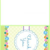 Give a like for Free Printable Floral Thank You Cards