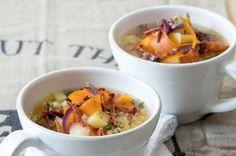 Kroupová polévka s kořenovou zeleninou